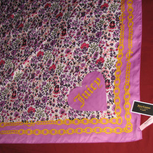JUICY COUTURE Chair Floral Square scarf 36x36 NWT
